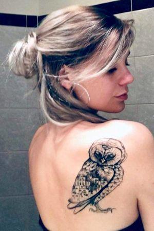 Healed owl #owl #owltattoo #customdesign