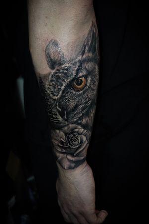 #owltattoo #owl #tattoo #tattoodo #lyndhurst #nj