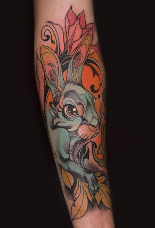 #tattooartist #rabbit#rabbittattoo #newschool #newtraditional