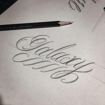 Practice👊👊👊👊 #crystal #🇰🇷 #Galaxy #blacklettering #script #blackletters #customlettering #edgy #letteringtattoo #customtattoo #inked #hiphop #scripttattoo #lyrics #lettering #letras #dailysketch #freehandtattoo #handdrawing #calligrafy #calligraphy #calligraphytattoo