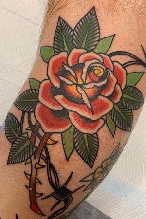 #rose #rosetattoo #traditional #traditionaltattoo #boldwillhold #bright