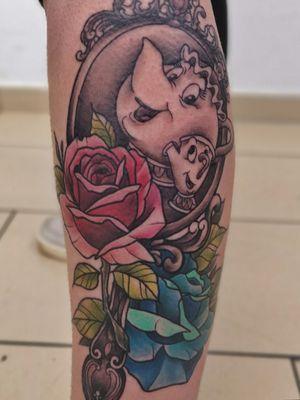 Artist: Tattoo LilaFarbenfee (me) #beautyandbeast #tassilo #inklovers #tattooart