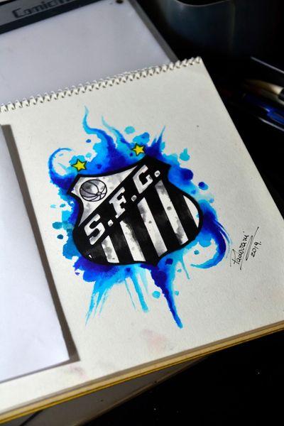 #santos #futebol #soccer #tattoosketch #watercolor #aquarela #thiagopadovani