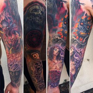 Sleeve i did a while back theres multiple cover up in there lol