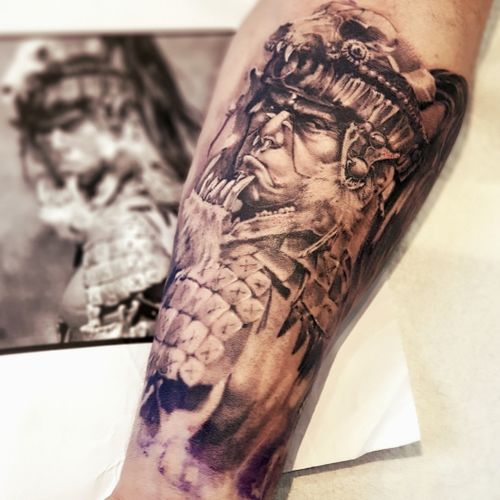 #apocalypto #tattoo #dublintattoo #ireland #blackandgreytattoo @The_Black_Hat_Tattoo #forarmtattoo #tattooart