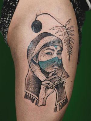 Tattoo by Dzo Lama #DzoLama  #InternationalWomensDay #WomensHistoryMonth #femaleartists #femaletattooist #femaletattooartist #empower #support #solidarity #love
