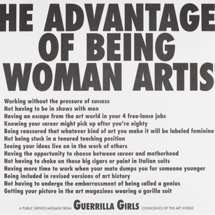Guerrilla Girls Art #GuerrillaGirls #InternationalWomensDay #WomensHistoryMonth #femaleartists #femaletattooist #femaletattooartist #empower #support #solidarity #love