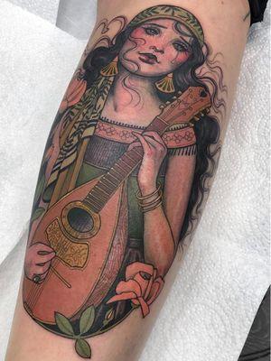 Tattoo by Hannah Flowers #HannahFlowers #InternationalWomensDay #WomensHistoryMonth #femaleartists #femaletattooist #femaletattooartist #empower #support #solidarity #love