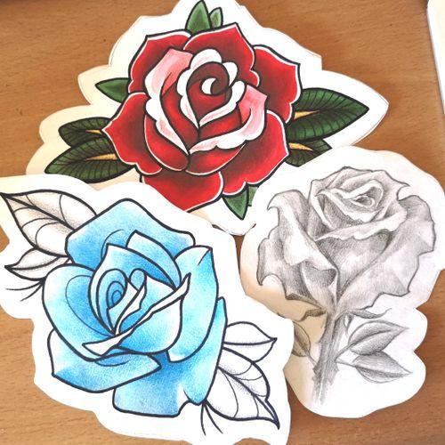 #rose #rosetattoo #RoseTattoos #practice #practicemakesperfect #apprenticeship #apprentice #apprenticetattoo