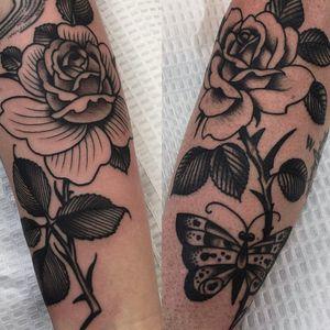 Roses #tattoo #roses #blackandgrey #linework #traditional