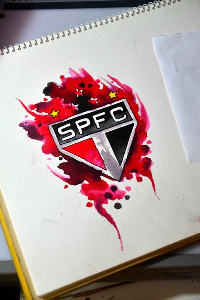 #saopaulo #futebol #soccer #tattoosketch #watercolor #aquarela #spfc #thiagopadovani