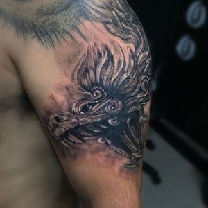 #balmtattoo #blackandgrey #Quetzalcoatl #tattooartist #tattootodo #prehispanictattoo #serpienteemplumada