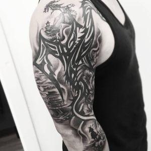 #тату #фон #trigram #tattoo #background #inkedsense #tattooist #кольщик