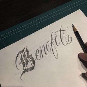 Benefit 20190308 #crystal #🇰🇷 #benefit #blacklettering #script #blackletters #calligraphy #customlettering #edgy #letteringtattoo #customtattoo #inked #hiphop #scripttattoo #lyrics #lettering #letras #dailysketch #freehandtattoo #handdrawing #calligraphytattoo #calligrafy
