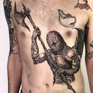 Tattoo by Skeleton Jelly #SkeletonJelly #besttattoos #favoritetattoos #uniquetattoos #specialtattoos #tattoosformen #tattoosforwomen #surrealism #surreal #illustrative #warped