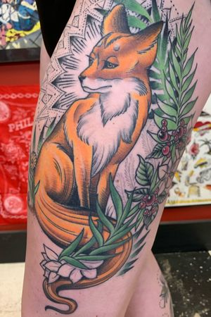 Healed fox tat for Marley. Thank you!!