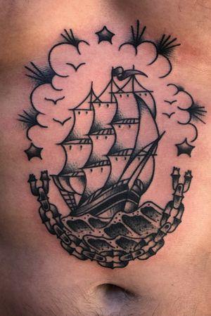Shio from a month ago #flash #bold #trad #traditional #traditionaltattoo #tattooartist #tattooart #bold #BoldTattoos #boldwillhold #classictattoos #vintage #goldcoastaustralia #australia