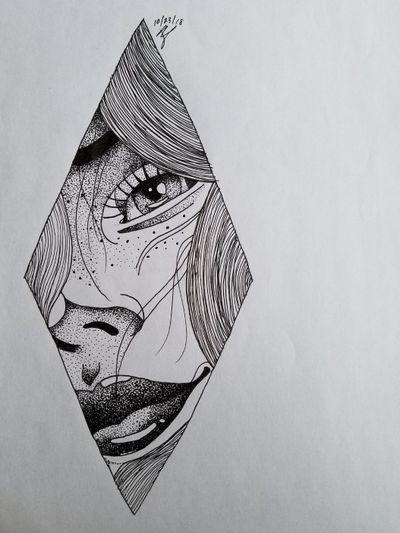 #dotwork #dotworktattoo #dotworktattoos #people #geometric #geometrictattoo #micronpens #eye