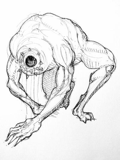 Monster 👾 #anatomy #sketch