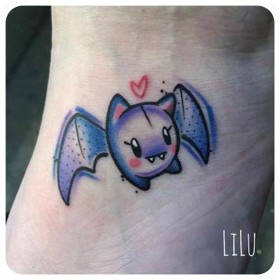 Baby bat! 💜🦇 #bat #battattoo