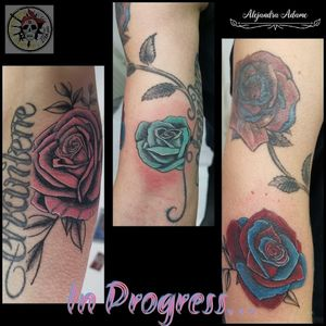 We continue to build this beautiful rose tree... In progress... #tattoo #tatuaje #tatouage #rosetattoo #tattoorose #rosestattoo #tatuajederosas #tatuajerosa #rosastatuaje #tatouagerose #tatouageroses #rose #roses #rosa #rosas #tattoolover #tattoolovers #ferneyvoltaire #tattooferneyvoltaire #tattoodo