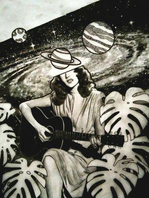 #planets #music #women #plants #love #bng #galaxy #tattoodesign