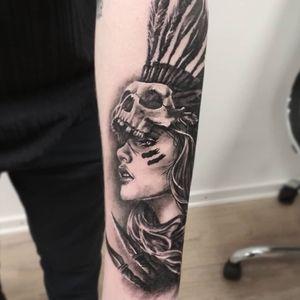 #тату #девушкаиндеец #trigram #tattoo #nativeamericangirl #inkedsense #tattooist #кольщик