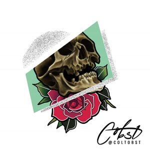 Neotradtional rose and skull ! Available for tattooing. Message me how ! Follow me on instagram also @coltobst