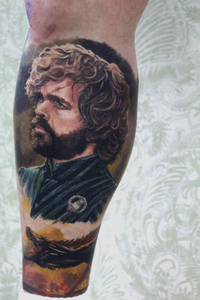 Completely healed tattoo from me!!!! #portrait #movietattoo #realism #hyperrealistic #gameofthrones
