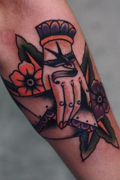 #traditional #love #letter #flower #hand #sparrow #bird