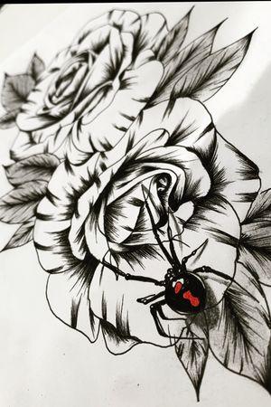 #flowertattoo #tattoodesign #spidertattoo