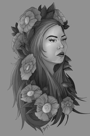 wildflower grayscale