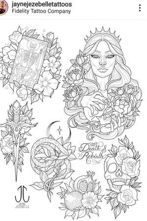 Persephone. Queen of the underworld. My fav' myth. Goddess. #Persephone #persephonetattoo #queentattoo #queenofthedead #underworld #greekmythology #MythTattoos #MythologyTattoos #mythology #legendary #greek #legends #myths #pomegranate #stunningtattoo #tattooflash #death #skulltattoo #moontattoo #witchtattoo #RoseTattoos #roses #pionie #stars #Darkness #lightanddark #twofaced #goddess #goddesstattoo #girlpower #girlportrait #portraittattoo #blossomtattoo #goddessofspring #daughterofzeus #demeter #kore #themaiden #tarottattoo #tarot #QueenoftheDamned #wifeofhades #Hades #diamonds #jewelry #darkred #linework #sketches #illustration #designs #tattoodesigns #amazingtattoos #beautiful #outlines #tattooillustration #snake #snaketattoo #tarotcardtattoo #rebirth #flashart #flashsheet #instaart #instaartist @jaynejezebelletattoos #instatattoo
