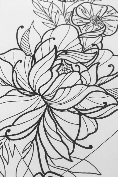 Floral design for my guest spot at Dr Morse Tattoo. #floral #flower #botanical #illustration #design