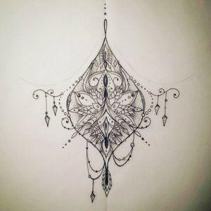 #drawing #mandala #dotwork #mix #stencil #tattoo #underbubs #germantattooer #follow