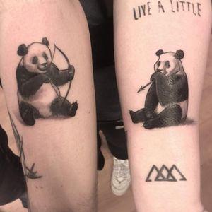 #panda #cuppletattoo #bow #arrow