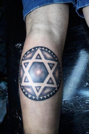 #tattoo #estrela #davi #subzeroinktattoo tel:5511954540924