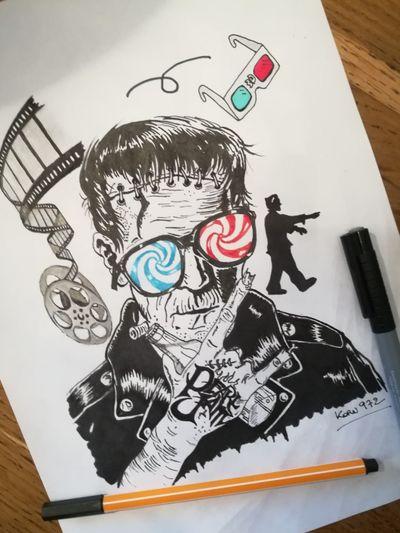 #tattooapprentice #tattoo #movie #rock #pearljam #drawing #frankenstein