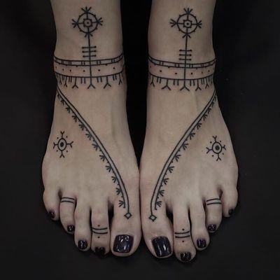 Tattoo by Andrei Vintikov #AndreiVintikov #openbookings #cooltattoos #blackwork #linework #dotwork #freehand #tribal #neotribal #pattern #ornamental