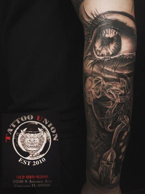 #tattoounion #chicago #chicagochinatown #blackandgrey #realstic #inkedup #inked #tattooart #tattooartist #thebesttattoopage #thebesttattooartists #chicagotattooshop
