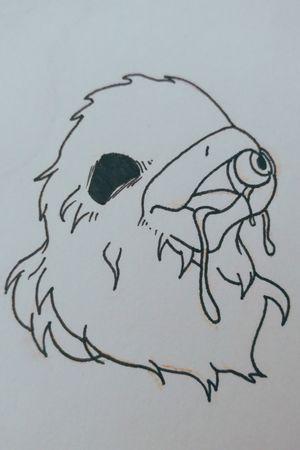 #simple #simpletattoo #linework #bird #eyeball #drawing #drawfolio #beginner #death #design #lineart #linedrawing