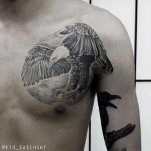 #Hawk #blackandgrey Healed 1year