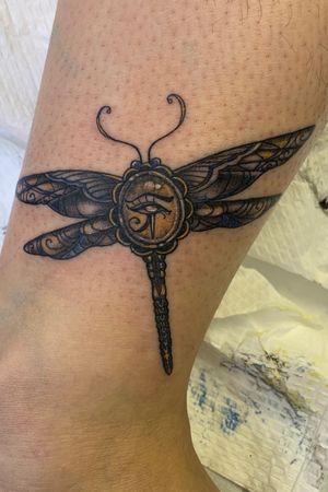 Egyptian ornamental dragonfly fineline