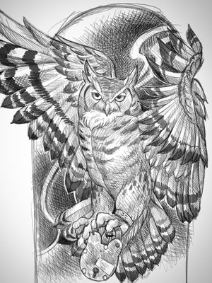 Upcoming sketch by Terry Ribera for upcoming tattoo.
