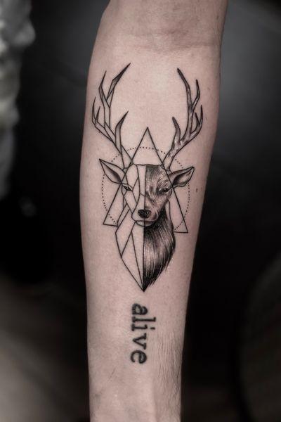 """And into the forest I go, to lose my mind and find my soul.""🍀🌲🌎🦌 ●●●●●●●●●●●●●●●●●●●●●● #realistic#deer#deertattoo#realisticink#tattoo#inked#tattooed#animaltattoos#tattooideas#blackandgrey#blackandwhite#tattoolife#tattoolifestyle#bulgaria#amsterdamtattoo#besttattoos#artistoninstagram#bodyart#tattoomodel#tattooedgirls#tattooedguys#inkig#tattooflash#tattoo#tattoos#amsterdamartist#geometric#geometrictattoo#geometricdeertattoo#linework"