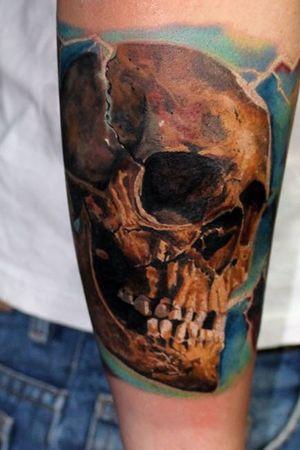 Skull #skull #skulltattoo #colortattoo #alanramireztattooartist