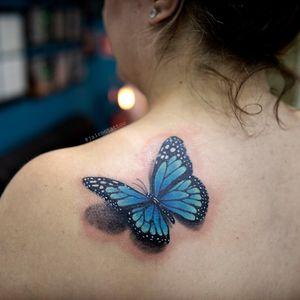 Borboleta #butterflytattoo #realisticbutterfly #butterfly #borboletarealista
