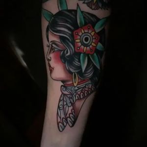 Girl head recently done at depiction tattoo
