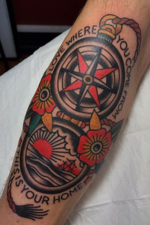 #traditional #traditionaltattoo #compass