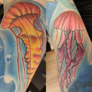 #jellyfishtattoo #eternalink #colortattoo